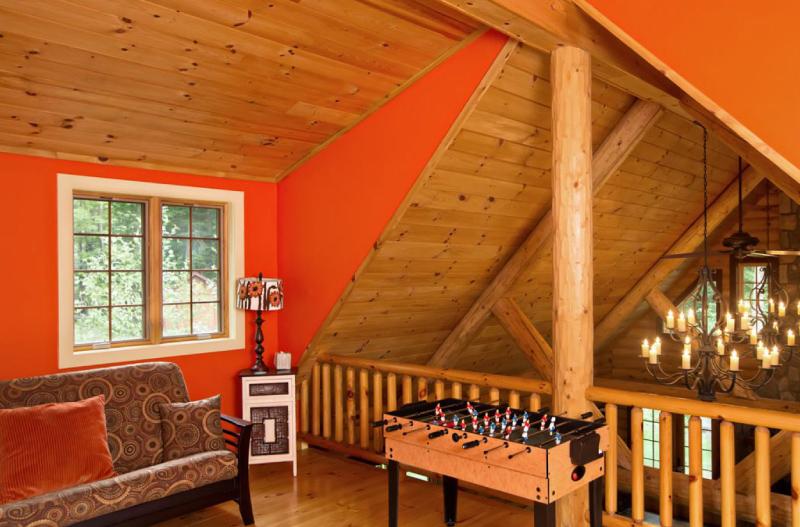 Log home interior design