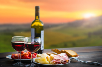 Wine, Cheese, and a View