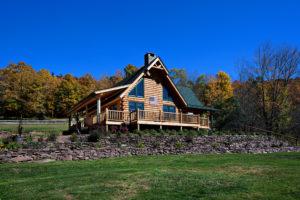 Beaver Mountain Log Homes Mountain View Exterior Front