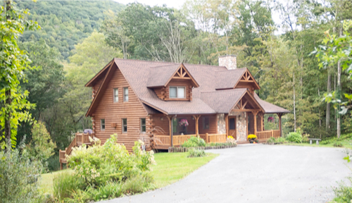 Riverside Log Home