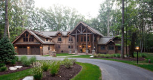 Beaver Mountain Log and Cedar Homes Custom House