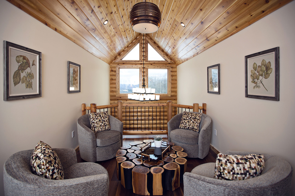 Beaver Mountain Log Homes Cedar Crest Cabin Reading Nook