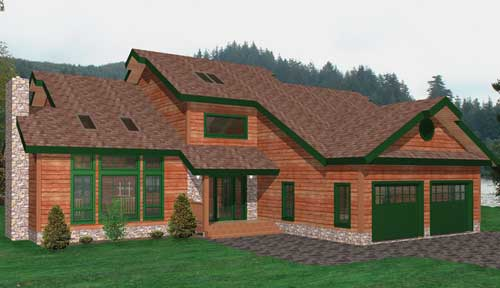 Adirondack Timber Home Classic Floor Plan