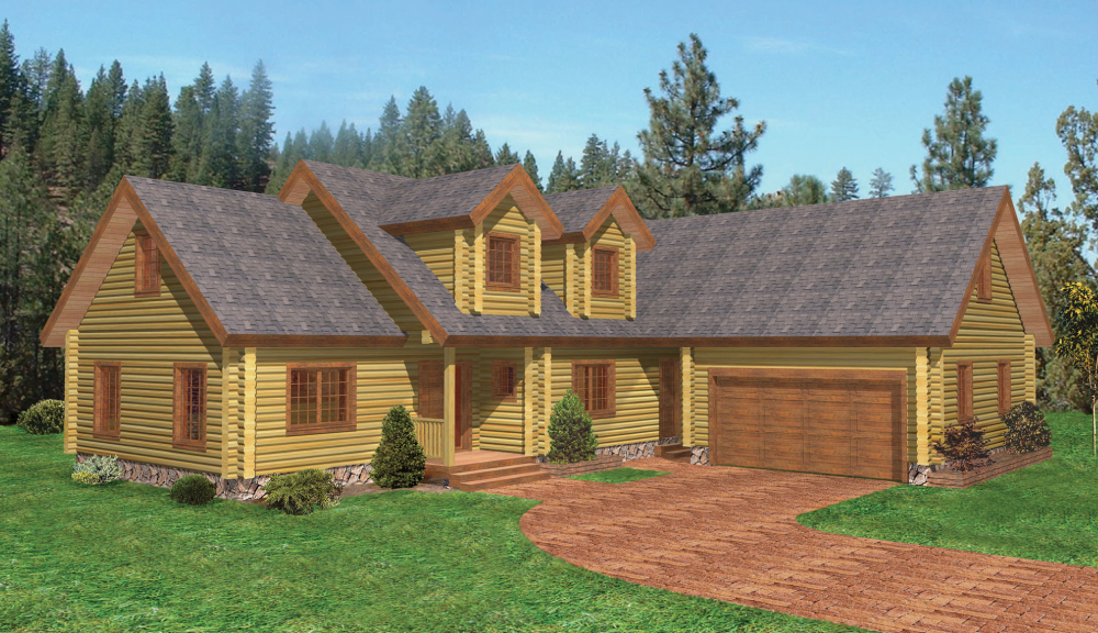 Burlington Log Home Classic Floor Plan