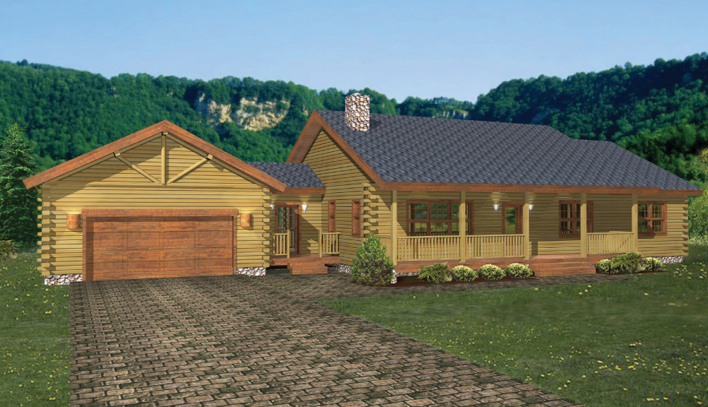 Canterbury Log Home Classic Floor Plan