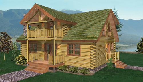 Catskill Log Home Classic Floor Plan