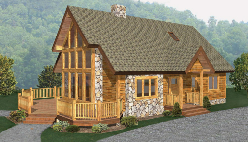 Cedar Ridge Timber Home Model Classic Floor Plan