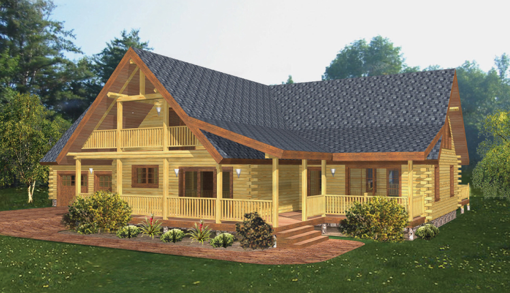Classic Lodge Log Home Model Beaver Mountain