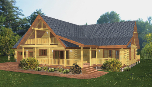 Classic Lodge Log Home Model Classic Floor Plan