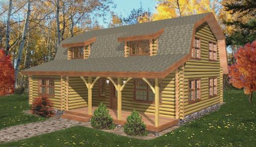 Cochecton Log Home Floor Plan