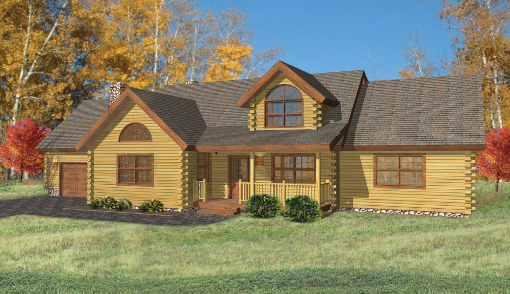 Covington Log Home Floor Plan