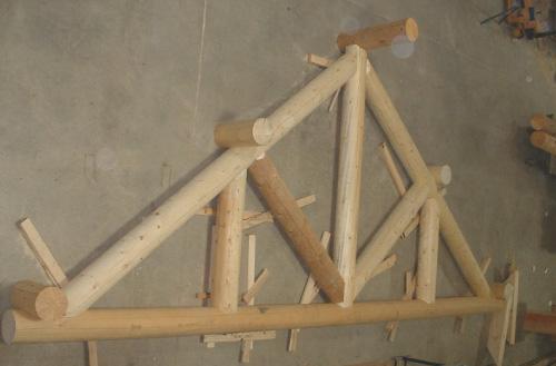 Custom Milled Timber Truss