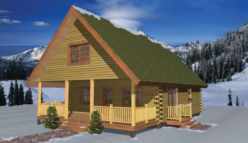 Elk Creek Log Home Classic Floor Plan