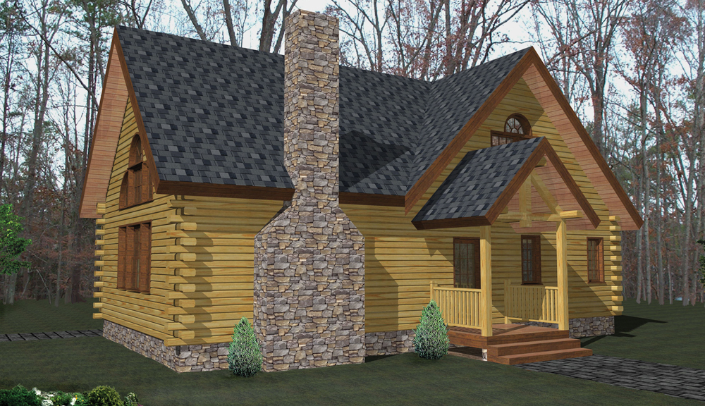 Glens Falls Log Home Classic Floor Plan