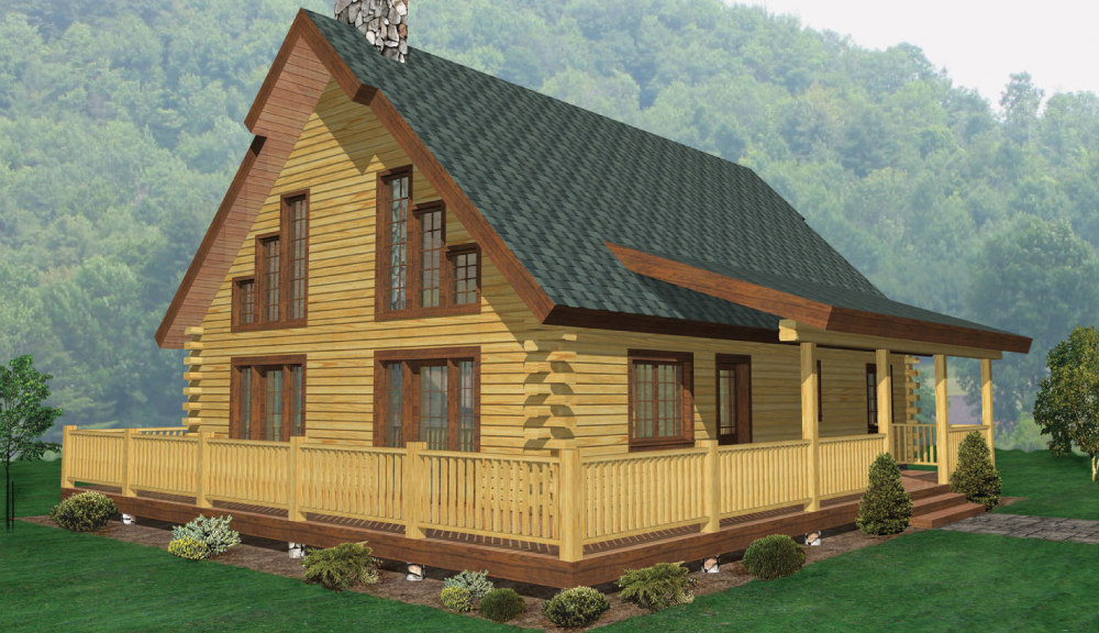 Hampton Log Home Classic Floor Plan