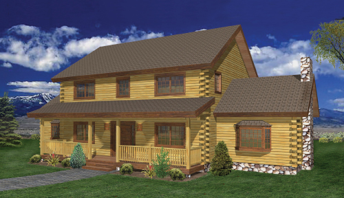 Hawthorne Log Home Classic Floor Plan