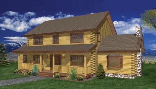 Hawthorne Log Home Classic Floor Plan