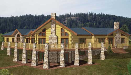 Hunter Mountain Log Home Classic Floor Plan