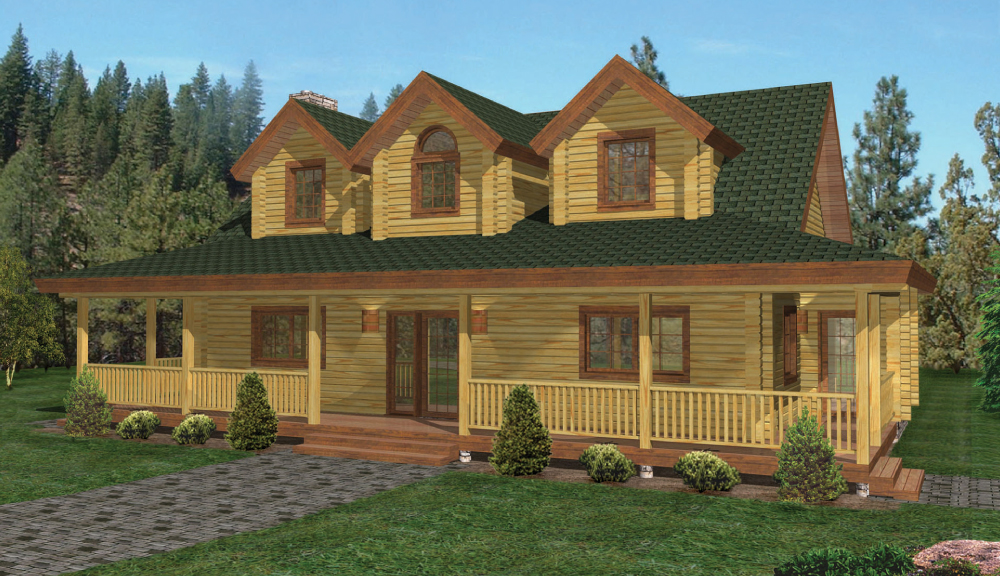 Jefferson Log Home Floor Plan