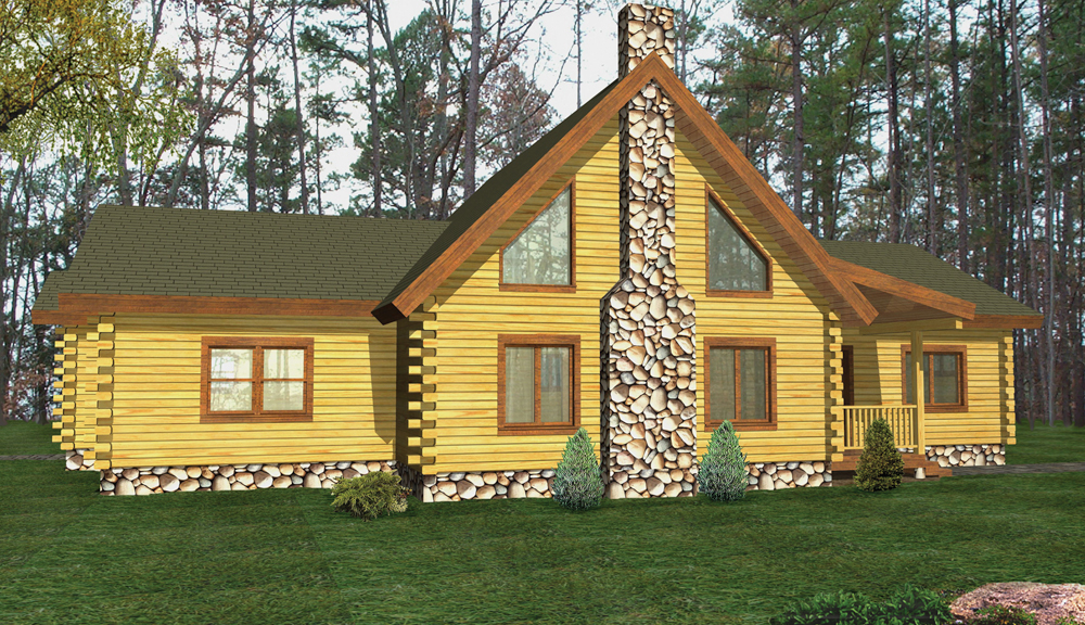 Lexington Log Home Classic Floor Plan