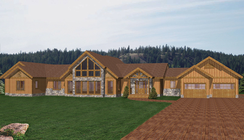 Livingston Manor Timber Home Floor Plan