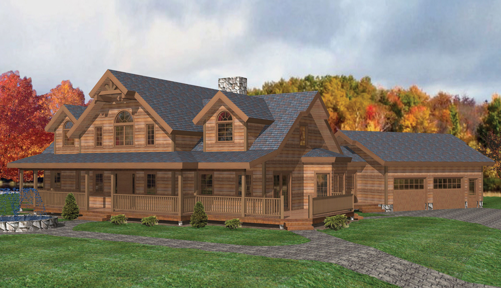 Mount Vernon Timber Home Classic Floor Plan