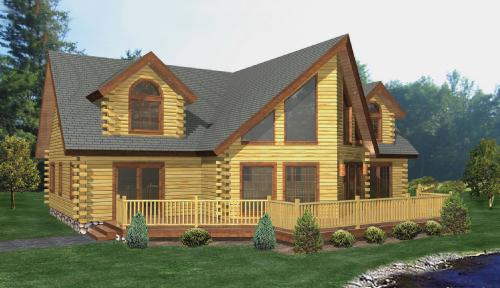 Oaquaga Log Home Classic Floor Plan