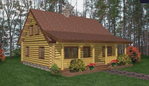 Phoenicia Log Home Floor Plan