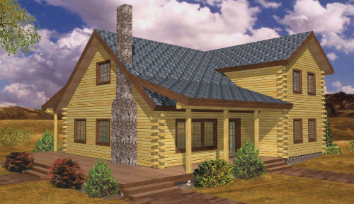 Richmond Log Home Classic Floor Plan