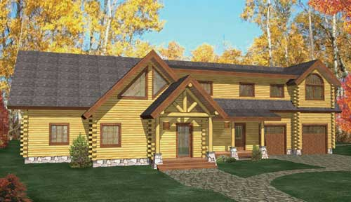 Saratoga Springs Log Home Classic Floor Plan
