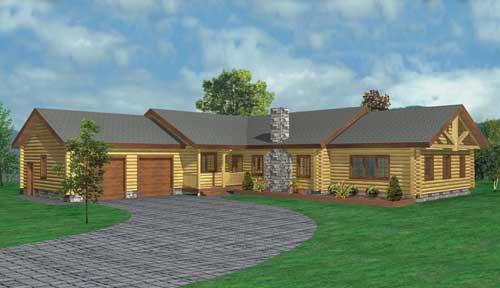 Scottsdale Log Home Classic Floor Plan