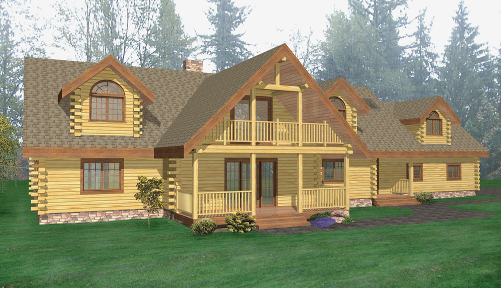 Skaneateles Log Home Classic Floor Plan