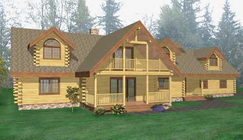Skaneateles Log Home Classic Floor Plan