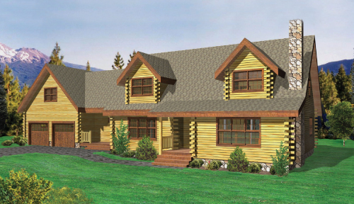 Stony Brook Log Home Classic Floor Plan