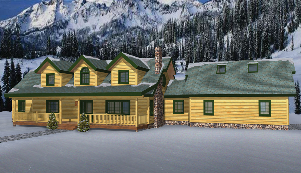 Timber Ridge Log Home Classic Floor Plan
