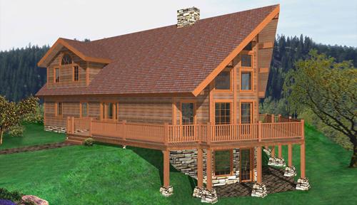 Tupper Lake Timber Home Classic Floor Plan