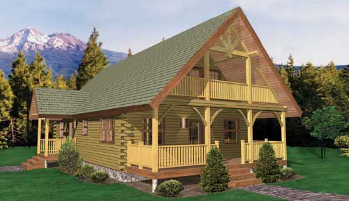 Windemere Log Home Classic Floor Plan