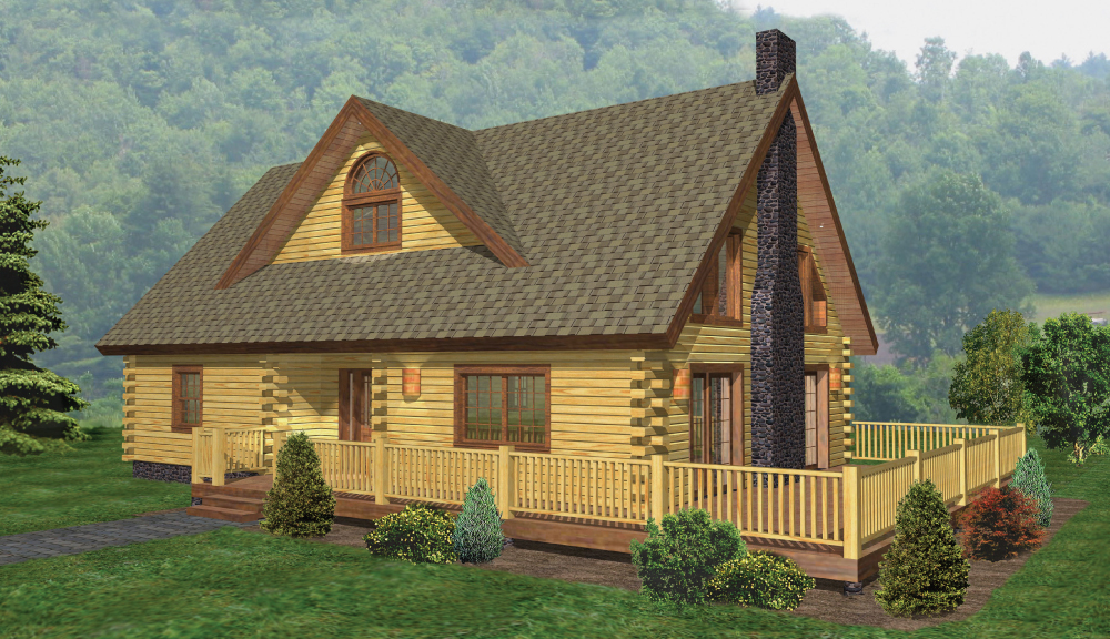 Windham Log Home Classic Floor Plan