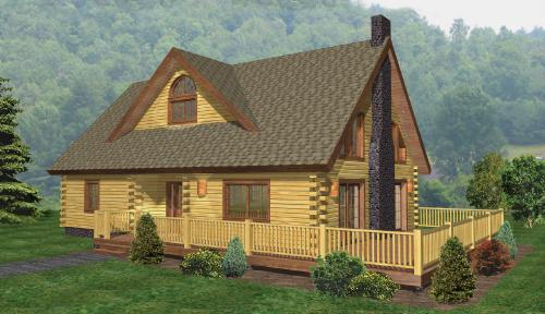 Windham Log Home Classic Floor Plan