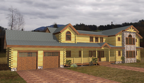 Lake George Log Home Classic Floor Plan