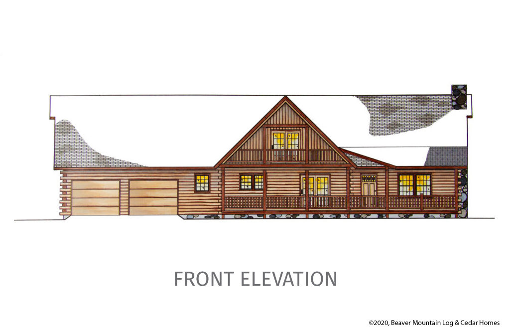 Bartch Classic Lodge Front Elevation