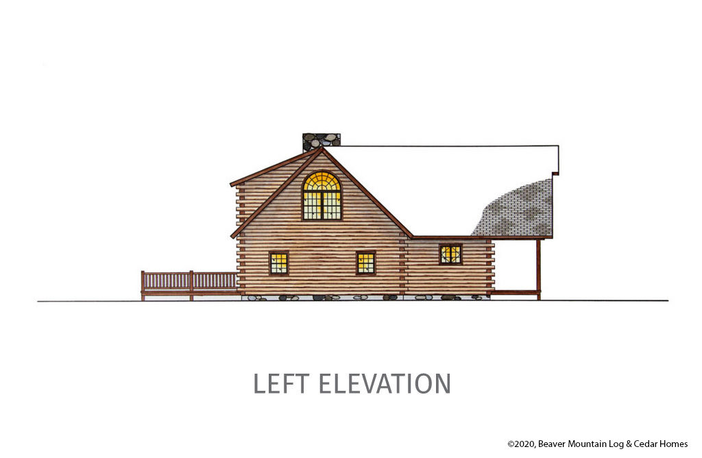 Bartch Classic Lodge Left Elevation