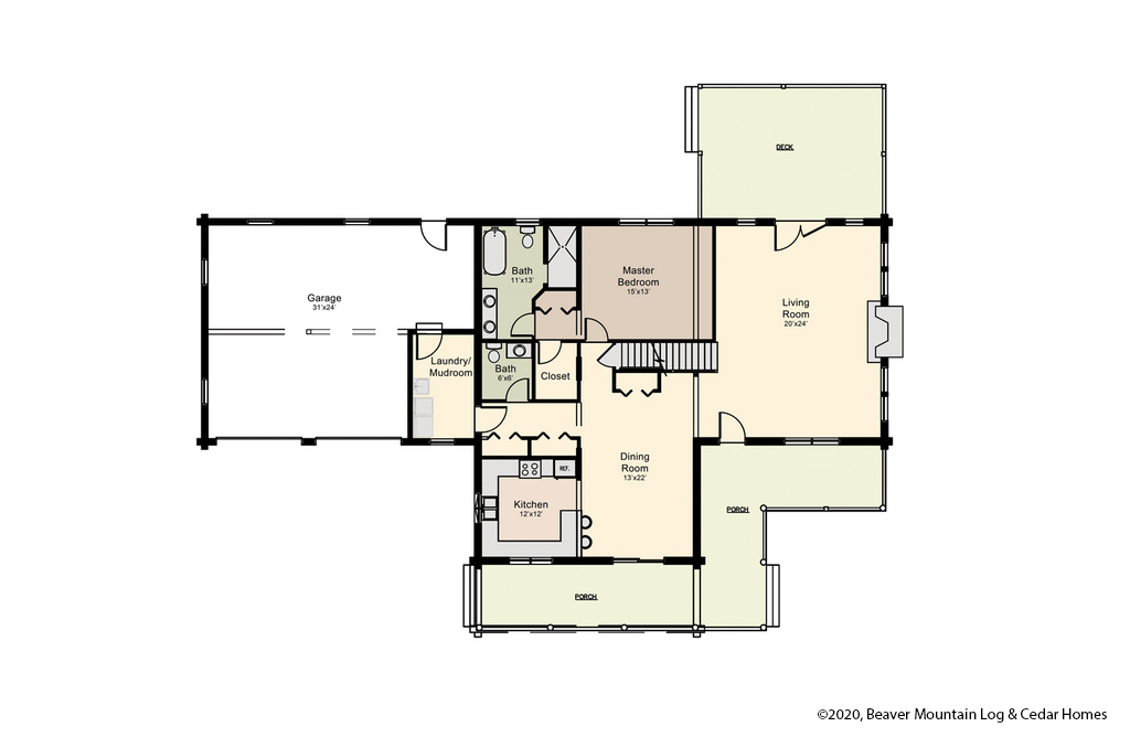 Bartch Classic Lodge Upper Level Floor Plan