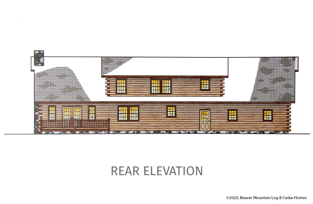Bartch Classic Lodge Rear Elevation