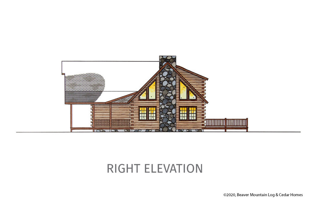 Bartch Classic Lodge Right Elevation