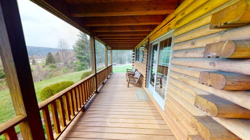 Beaver Mountain Log Homes Classic Lodge Porch