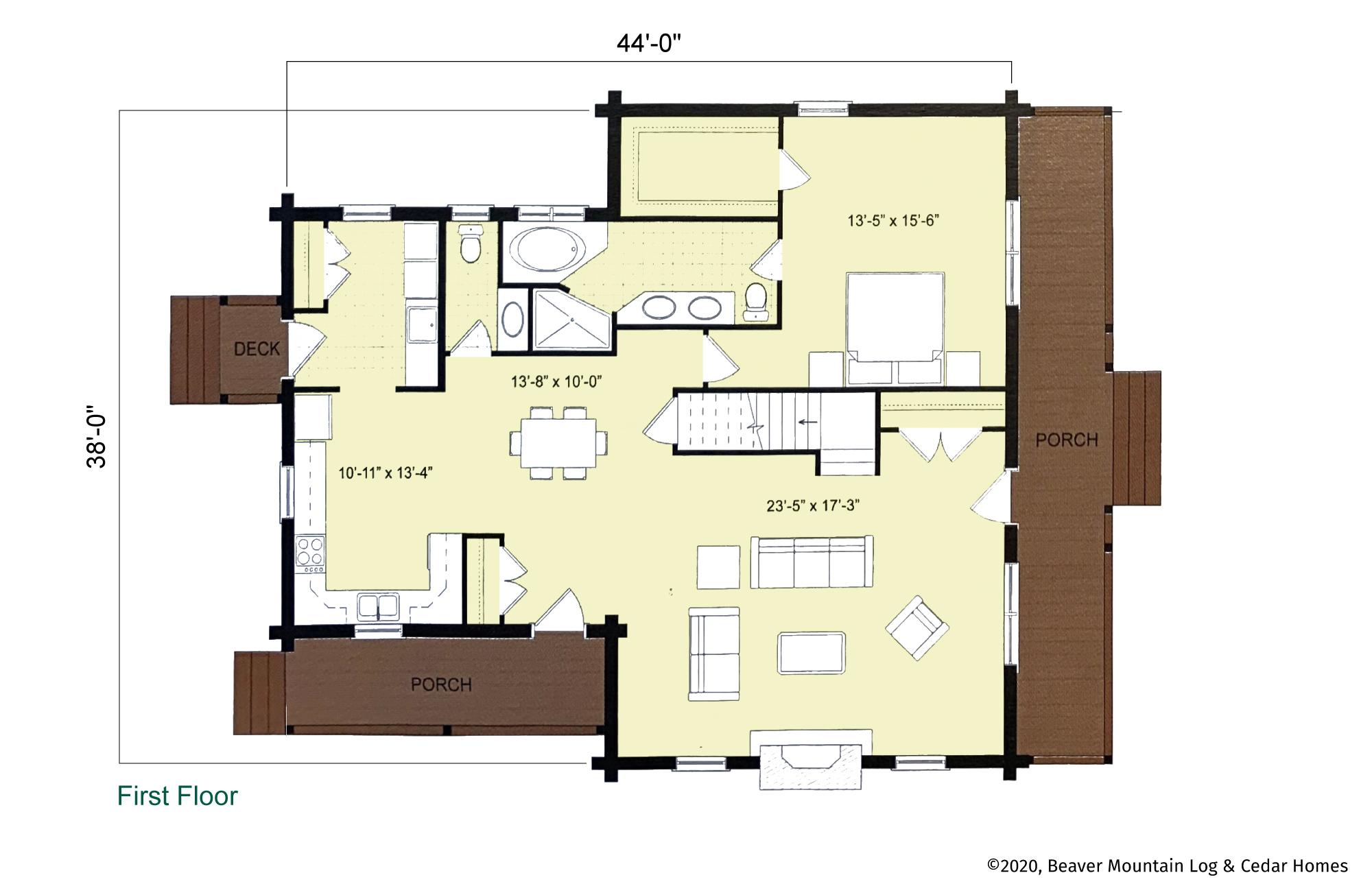 Beaver Mountain Saranac First Floor Plan