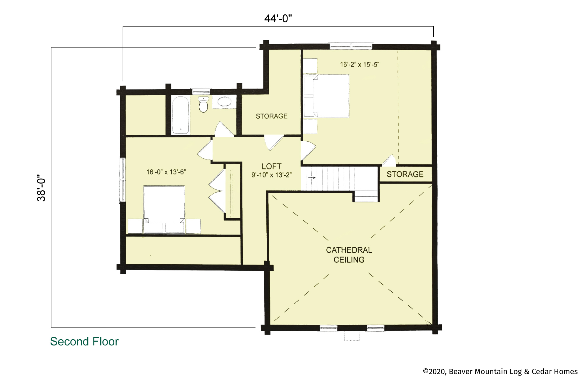Beaver Mountain Saranac Second Floor Plan