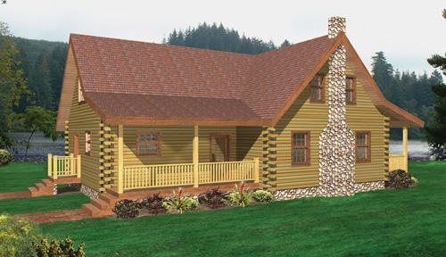Saranac Log Home Classic Floor Plan