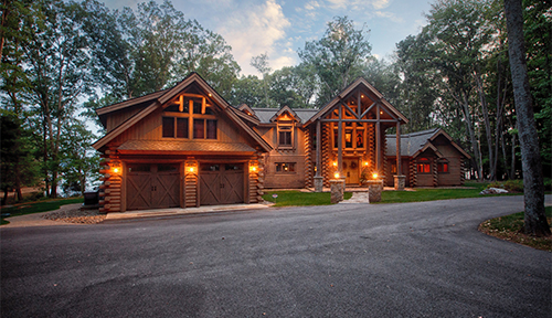 Heron Cove Log Home Exterior Front